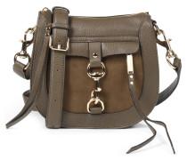 Saddle-bag Dog Clip Im Materialmix Olive