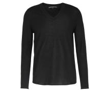 Schurwoll-pullover V-neck Black
