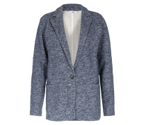 Sweatblazer Meliert In Mittelblau