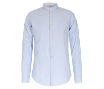 Baumwollhemd Mit Stehkragen Light Blue