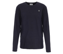 Baumwoll-Langarmshirt Peter mit Patch Navy