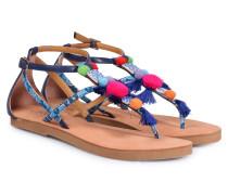 Sandalen mit bunten Details Dunkelblau