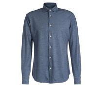 Jersey-Baumwollhemd Polvere Blaugrau