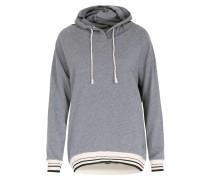 Sweater Cap The Hoodie Mit Kapuze Blaugrau Meliert