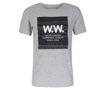 Baumwoll T-shirt Ww Square Grey Melange