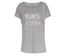 Shirt Mit Metallic-print Grey Mel