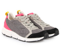 Sneakers Fleece Fluo Grey/pink
