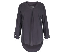 Viskose-bluse Dark Grey