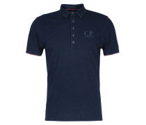 Poloshirt Garment Dyed Indigo Blue