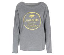 Leichter Sweater Im Baumwoll-mix Mit Print