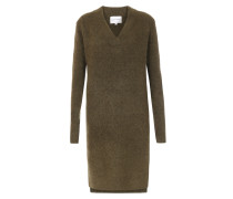 Knielanges Strickkleid Brooke im Mohair-Woll-Mix Military Olive