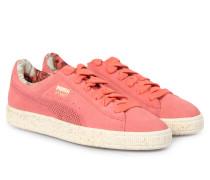 Veloursleder-sneakers Basket X Careaux Porcelain Rose