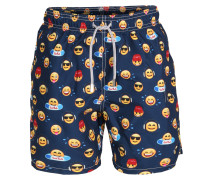 Badeshorts Gustavia Emoticon mit Emoticon Print
