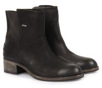 Boots Aus Gewachstem Strukturleder Black