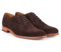 Dylan Veloursleder Wingtip Brogues Chocolate Suede