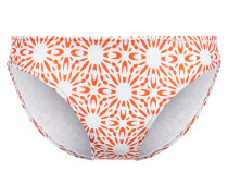 Bikini-hose Mit Orange/weißem Print