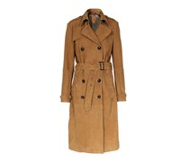 Boden damen trenchcoat aus veloursleder navy damen boden for Mini boden gutschein