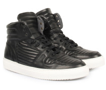 Ledersneaker High-Top Black