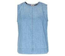 Jeans-Top mit überkreuztem Rückenausschnitt Hellblau