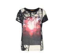 BOSS ORANGE Shirt Tawood Damen Farbe: schwarz/rot/créme