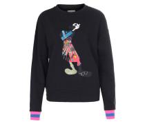 Sweatshirt mit Comic-Print und Schmuckdetails