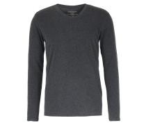 Baumwoll-langarmshirt Mit Cashmere Anthra