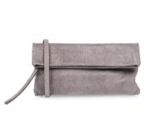 Foldover-clutch Mit Reptilienprägung Grey