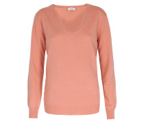 Feinstrick-pullover Im Woll-cashmere Mix Rosé
