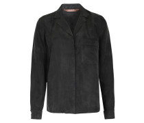 Leichte Bluse aus Viskose-Cupro Mix in Schwarz
