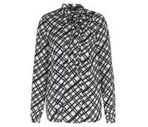 Karo-bluse Mit Schluppe Und Faltendetails
