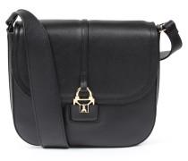 Ledertasche Saddle Bag Mit Breitem Schulterriemen Black