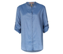 Bluse Efelize Aus Baumwoll-lyocell-mix Jeansblau
