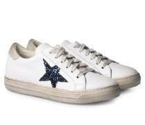 Sneakers im Used-Look Glitter Navy
