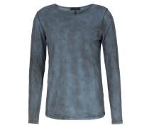 Baumwoll-Langarmshirt Ivan im Used-Look Grey