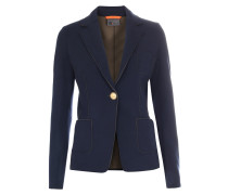 Sweat-Blazer im Viskose-Stretch Navy