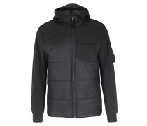Softshell-Jacke im Materialmix Black