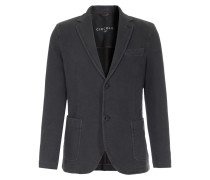 Jersey-Blazer mit Leistentasche in Anthrazit