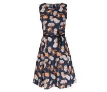 Kleid Pocket Dress mit Blumenmuster Dunkelblau
