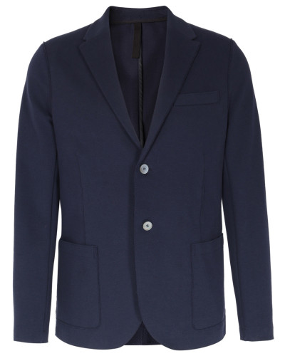 Baumwoll-Mix Blazer in Dunkelblau