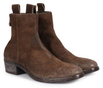 Veloursleder-boots Im Vintage-look