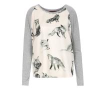 Langarm-Shirt Winnie mit Seide und Fuchsprint Grau