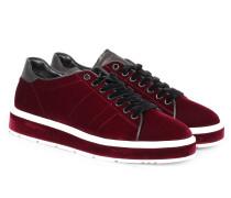 Samt-Sneakers Cool Bordeaux