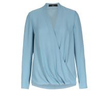 Bluse In Wickeloptik Frozen Blue