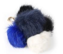 Multi Fur Pom Pom Charm Mit 5 Mini-bommeln
