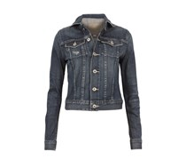 Jeansjacke Used-look Denimblue