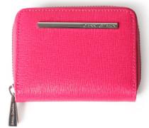 Leder-mini-geldbörse Pink