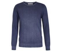 Cashmere-Pullover mit Rundhalsausschnitt Denim