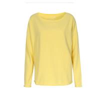Leichter Sweater Im Baumwoll-mix Gelb