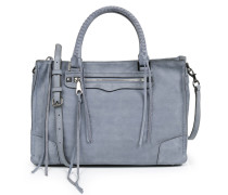 Veloursledertasche Dusty Blue