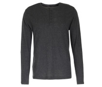 Doubleface-henley-longsleeve Im Woll-cashmere Mix Anthracite